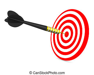 Dart on a white background. Isolated 3D image