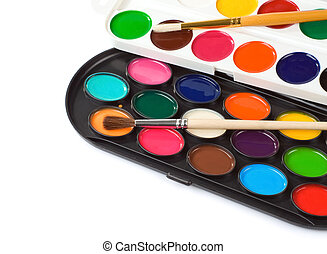 paint brush and painters palette
