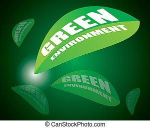 Go green concept for environment
