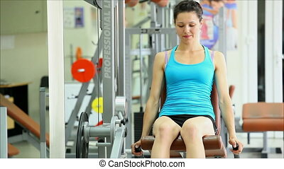 women involved in sports in the gym