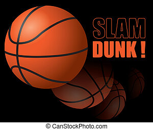 Basketball - The abstract of Basketball slam dunk