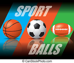 Sport balls - The abstract of sport balls