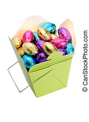 Easter Eggs - Chocolate Easter Eggs In A Chinese Style Box