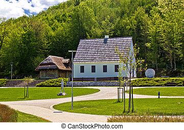 Nikola Tesla birth house memorial center in Smiljan, Lika,...