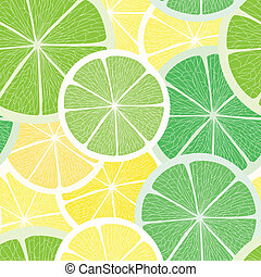 Citrus seamless background Lime and lemon