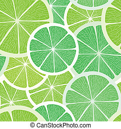 Citrus seamless background. Lime