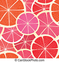 Citrus seamless background - Grapefruit seamless background