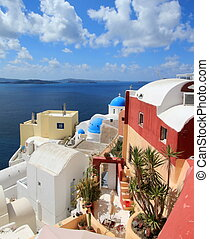 Caldera, Oia, Santorini, Greece - View on the caldera at...