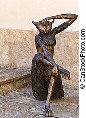 Devilish creature - A devilish creature in a public...