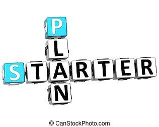 3D Plan Started Crossword