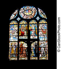 Colorful window-pane in the church
