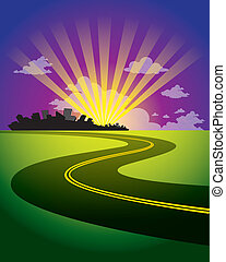 Background road - The abstract of Background road go to city...
