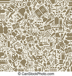 Art a background - Background from art subjects A vector...