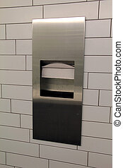 Paper towels in toilets in public building