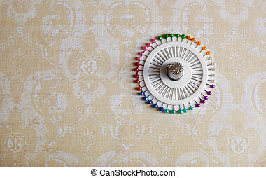Lot of colorful pins with button. Individual approach to...