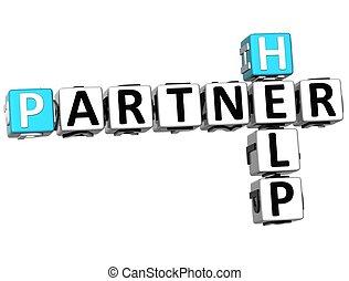 3D Help Partner Crossword