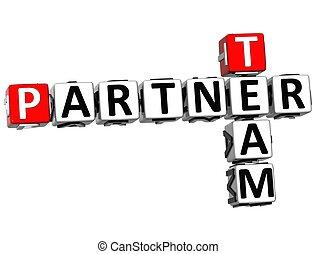 3D Team Partner Crossword