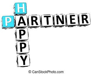 3D Happy Partner Crossword