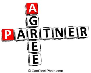 3D Agree Partner Crossword