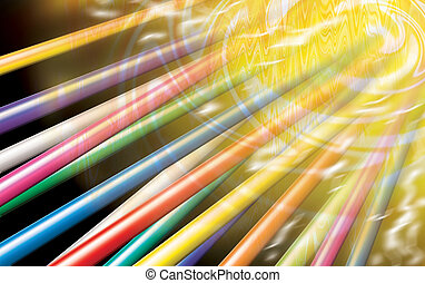 wire cable expose - illustration of color wire cable expose...