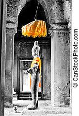 Vishnu statue - Statue of Vishnu in one of the galleries in...