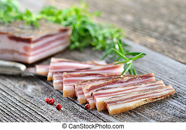 Bacon snack - Delicious South Tyrolean cured farmhouse bacon