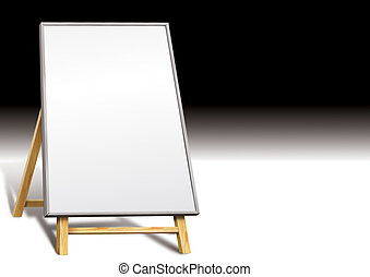 Blank notice board or display stand board