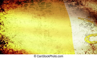 Vatican City Flag Waving - Vatican City Flag Waving, grunge...