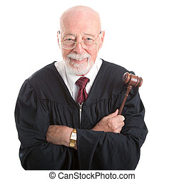 Judge - Wise and Kind - Wise, kind looking judge holding his...