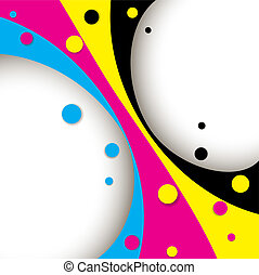 Creative CMYK design - Creative CMYK abstract design with...