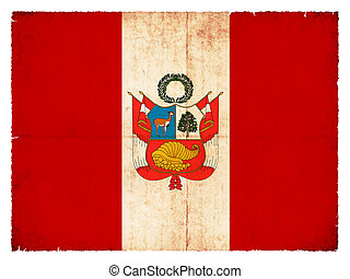 Grunge flag of Peru - National Flag of Peru created in...