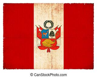 Grunge flag of Peru - National Flag of Peru created in...