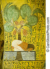 Ancient Egyptian Nile Painting