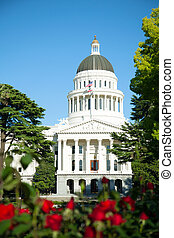 Capitol building in Sacramento, California in the sunny day