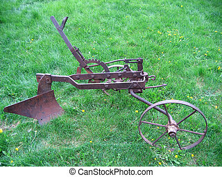 Agricultural old  plow