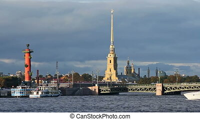 The Peter and Paul Fortress, Rostral Column and Palace Bridge