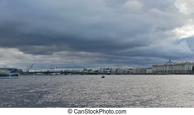 Big Neva is the largest armlet of Neva river St Petersburg,...