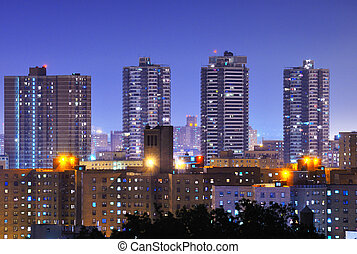 Harlem High Rises - Apartment high rises in uptown Manhattan...