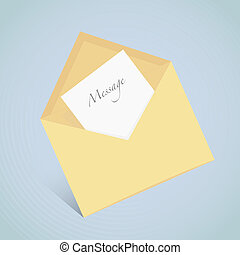Vector icon of open envelope