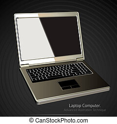 Laptop Computer Vector Illustration