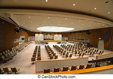 United Nations Security Council Chamber - NEW YORK CITY -...
