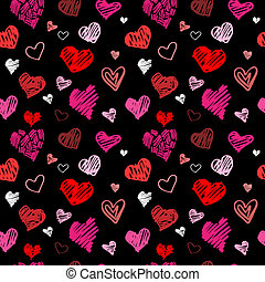 Love pattern vector background