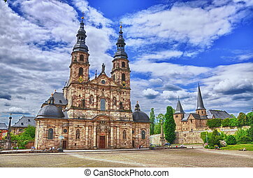 Fuldaer Dom Cathedral in Fulda, Hessen, Germany HDR