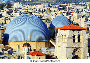 Church of the Holy Sepulchre - Dome cupola of the Church of...