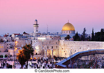 Temple Mount - Dome of the Rock and Western Wall in...