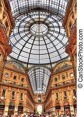 Vittorio, Emanuele, galería, Venecia, Italia, (HDR)