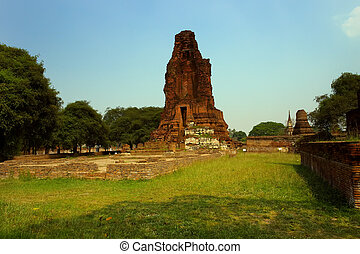 The ruins of an ancient temple