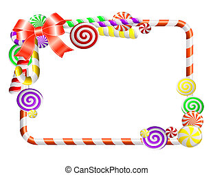 Frame with colorful candies - Sweet frame with colorful...