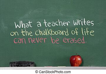 Inspirational phrase for teacher appreciation written on...
