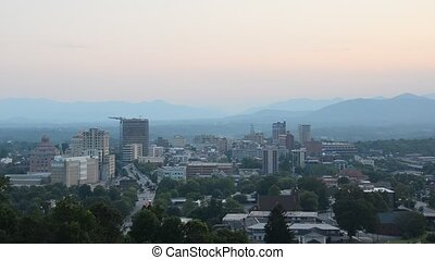 Asheville North Carolina - Cityscape of Asheville, North...